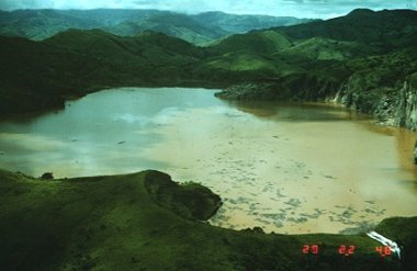 Lake Nyos after the eruption of carbon dioxide