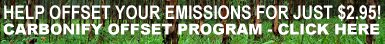 Carbon dioxide offset program via Carbonify
